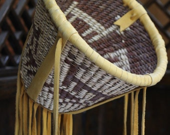 "Apache Indian Native American ""burden"" basket"