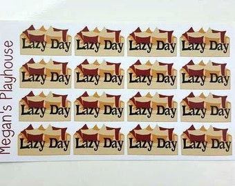 Lazy Day Couch Stickers