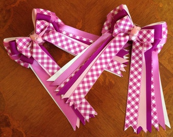 Horse Show Hair Bows/purple equestrian clothing/hair accessory