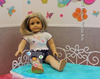 American Made unicorn pajamas for your girl doll