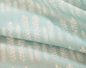 Leaves Pattern Double Cotton Gauze Fabric by Yard
