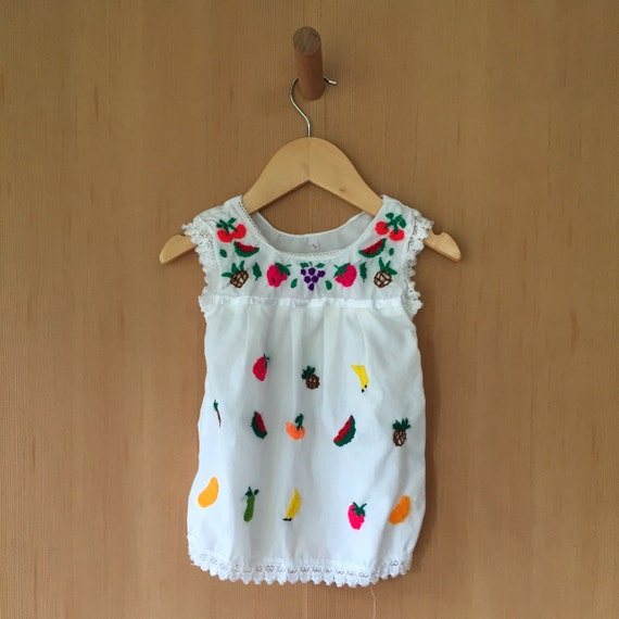 Vintage embroidered mexican baby dress by littlehoboportland
