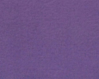 Remnant - Solid Purple Anti-Pill Fleece Fabric 12in