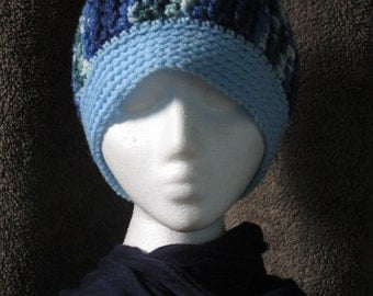 Men's Crocheted Cabled Beanie