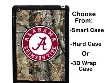 iPad Alabama Realtree Camo Monogram iPad Mini 1/2/3/4 Case Personalized iPad Air 1/2 iPad 2/3/4 Smart Case iPad Retina Flip Case, 3D #2724