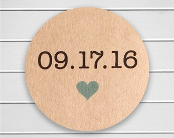 Save The Date Stickers, Pick Your Size, Save the Date Envelope Seals, Wedding Stickers (#166-KR)