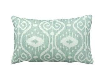 Green Throw Pillow Cover Mint Green Pillow Cover Sage Pillows Ikat Pillow Covers Lumbar Pillows Sea Foam Pillow Decorative Pillows