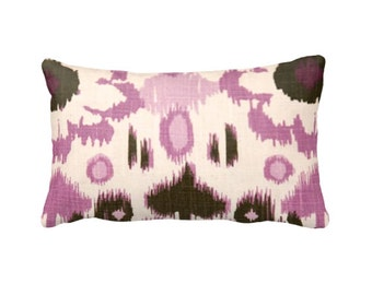 7 Sizes Available: Pillow Cover Purple Pillow Ikat Pillow Brown Pillow Plum Pillow Decorative Throw Pillow Decorative Pillow Lavender Pillow