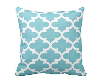 7 Sizes Available: Throw Pillow Cover - Decorative Pillow - Aqua Pillow Cover - Blue Pillow -  Moroccan Pillow - Blue Moroccan Pillow