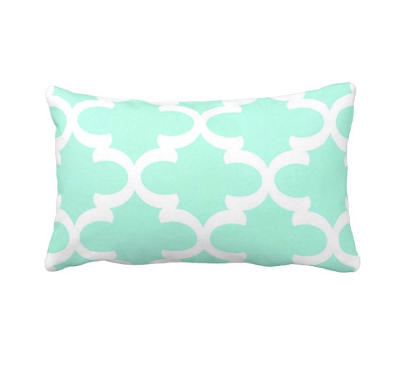 7 Sizes Available: Mint Throw Pillow Cover Mint Green Pillow