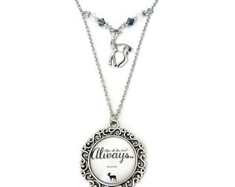 Always Doe Necklace - Snape and Lily inspired jewelry - Harry Potter Fans gift