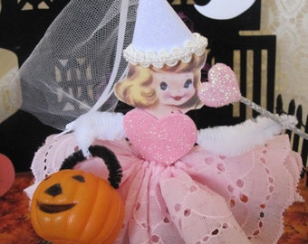 Princess Halloween Bump Chenille paper Doll