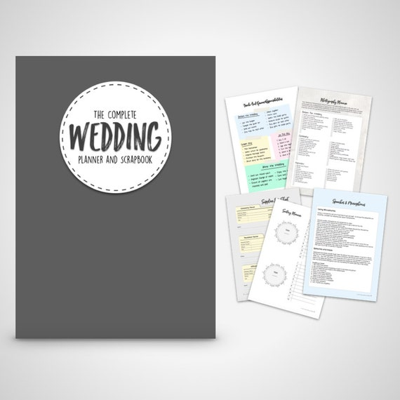 wedding planner organizer wedding planner book wedding organizer print at home digital 30042