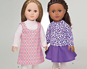 "Simplicity Pattern 8009 It's So Easy 18"" Doll Clothes"