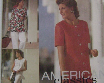 VINTAGE Simplicity Pattern 8369 Misses' Pants or Shorts and Top