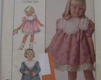 VINTAGE Simplicity Pattern 8991 Toddlers' Dress