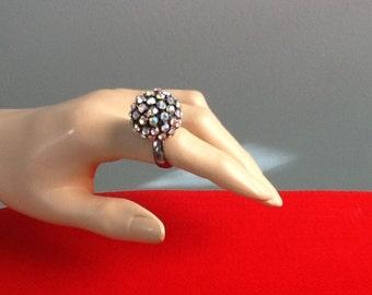 Disco Ball Ring, 1980's Costume Jewelry