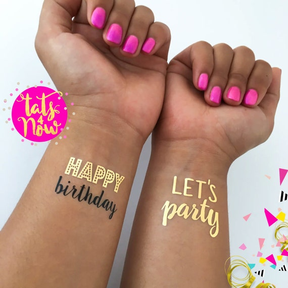 Happy birthday lets party set of 16