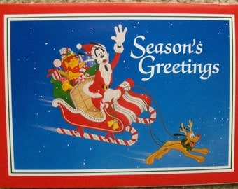 "Vintage ""Season's Greetings"" Holiday Card from The Disney Store Credit Card and Passport Program - 1992"