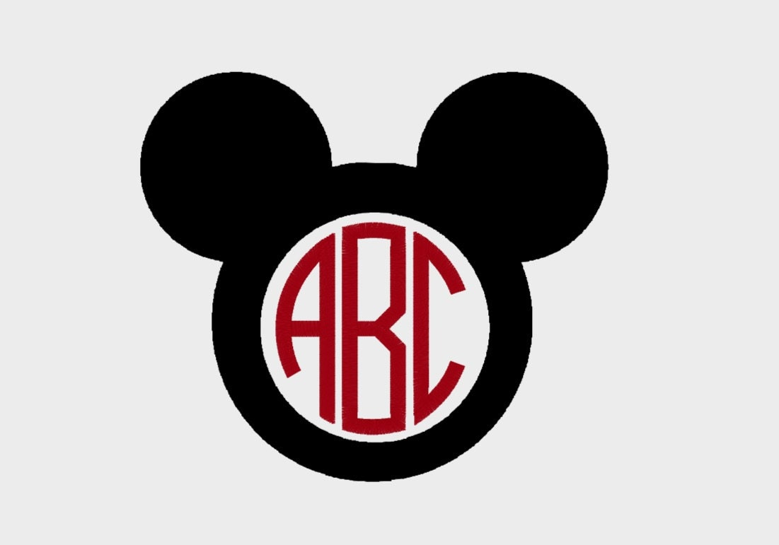 Mickey and minnie mouse monogram border embroidery file 25 this is a digital file biocorpaavc
