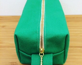 Cosmetic Pouch Green x Yellow