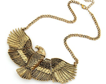 Brass Eagle Necklace