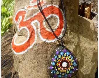Mandala River Rock Necklace