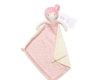 Security Blanket, Rag doll, Handmade Rag Doll, Baby Girl Gift, Baby Shower Gift