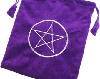 Purple Velvet Tarot Bag ~ Silk feel lining