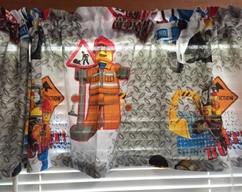 Lego On the Run Window Valance ~ Ready to Ship! ~ 58 Inches Wide