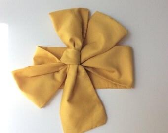 Baby headwrap; baby headband ; mustard fabric head wrap; newborn headband; baby headband; toddler headband; adult headband; girl