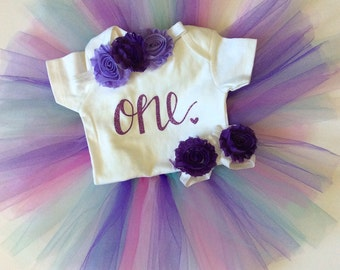 Birthday outfit ideas - purple / white - birthday outfit - Tutu Collection