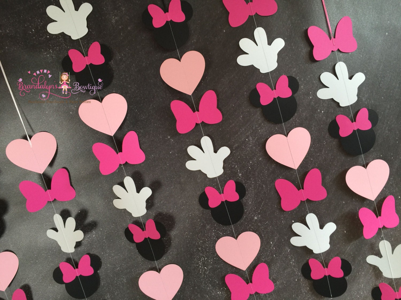 Conjunto minnie mouse guirnaldas de rosa vertical minnie for Decoracion cumpleanos minnie