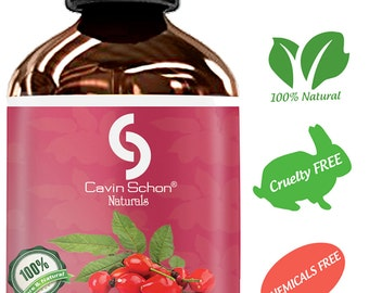 4 Oz Rosehip Oil for Hair & Skin - 100% Pure and Natural