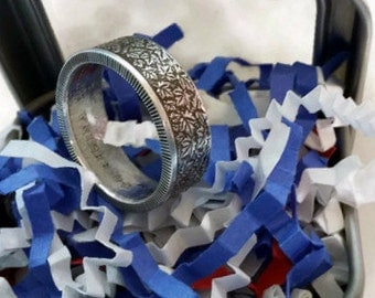 Canadian 3 Dollar .999 Fine Silver Coin Ring