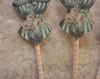 Cup Cake Toppers Corset (4)