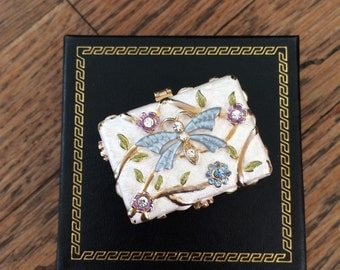 Small Vintage Enamel Trinket Box