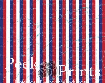 3ftx3ft  Patriotic Grungy Stripes Vinyl Photography Backdrop- 4th of July, Memorial Day, Red, White, & Blue Backdrops