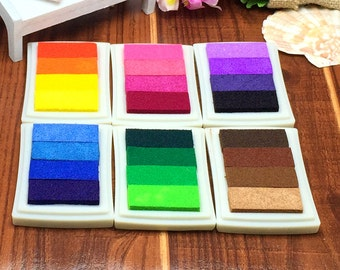 6 colors Rubber Stamps Ink Pad for Vivid Scrapbook Albums Fingerprint Tree Guest Book Card-making Craft