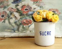 French sugar container - French sucre container - French sugar jar - vintage sugar jar - vintage container - French kitchen - French design
