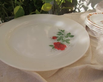 Dish pie Arcopal décor Rose Red