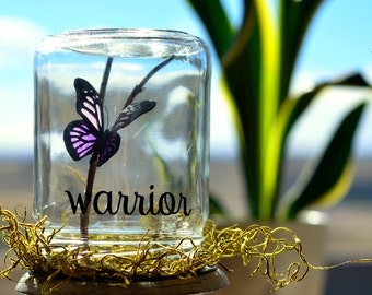 Warrior | Purple butterfly | Caregiver thank you gift | Cancer warriors | Caregiver gifts | Unique butterfly gift | Inspirational her
