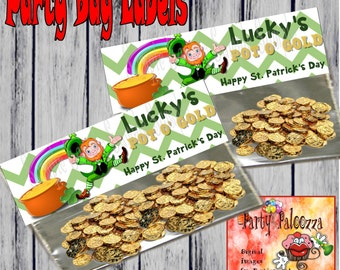 Printable St Patrick's Day treat bag topper
