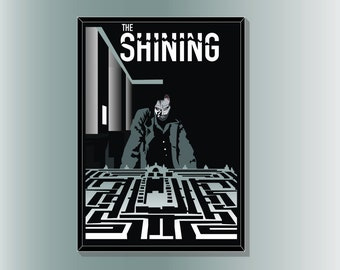 The Shining inspired Horror movie Poster by Cult.Graphics
