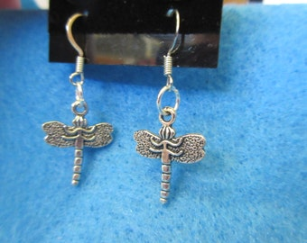 Pair of Silver Dragonfly Earrings