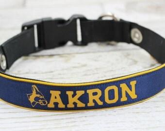 Akron Zips Dog Collar