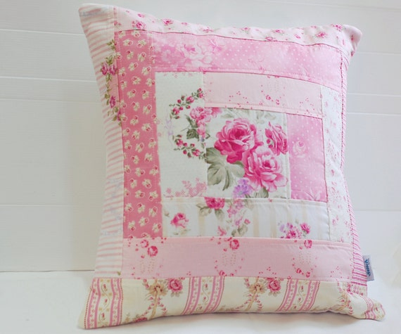 SALE Patchwork Pillow Cover Shabby Chic Pillow Cover