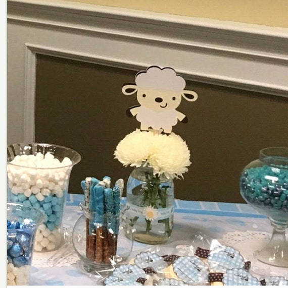 Lamb baby shower decorations sheep baby shower lamb party for Dekoration fur babyparty