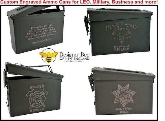 Custom Personalized Ammo Box Designed To Order Precison