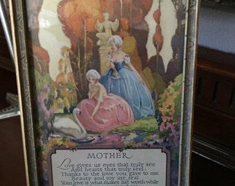Vintage Framed Mother Poem